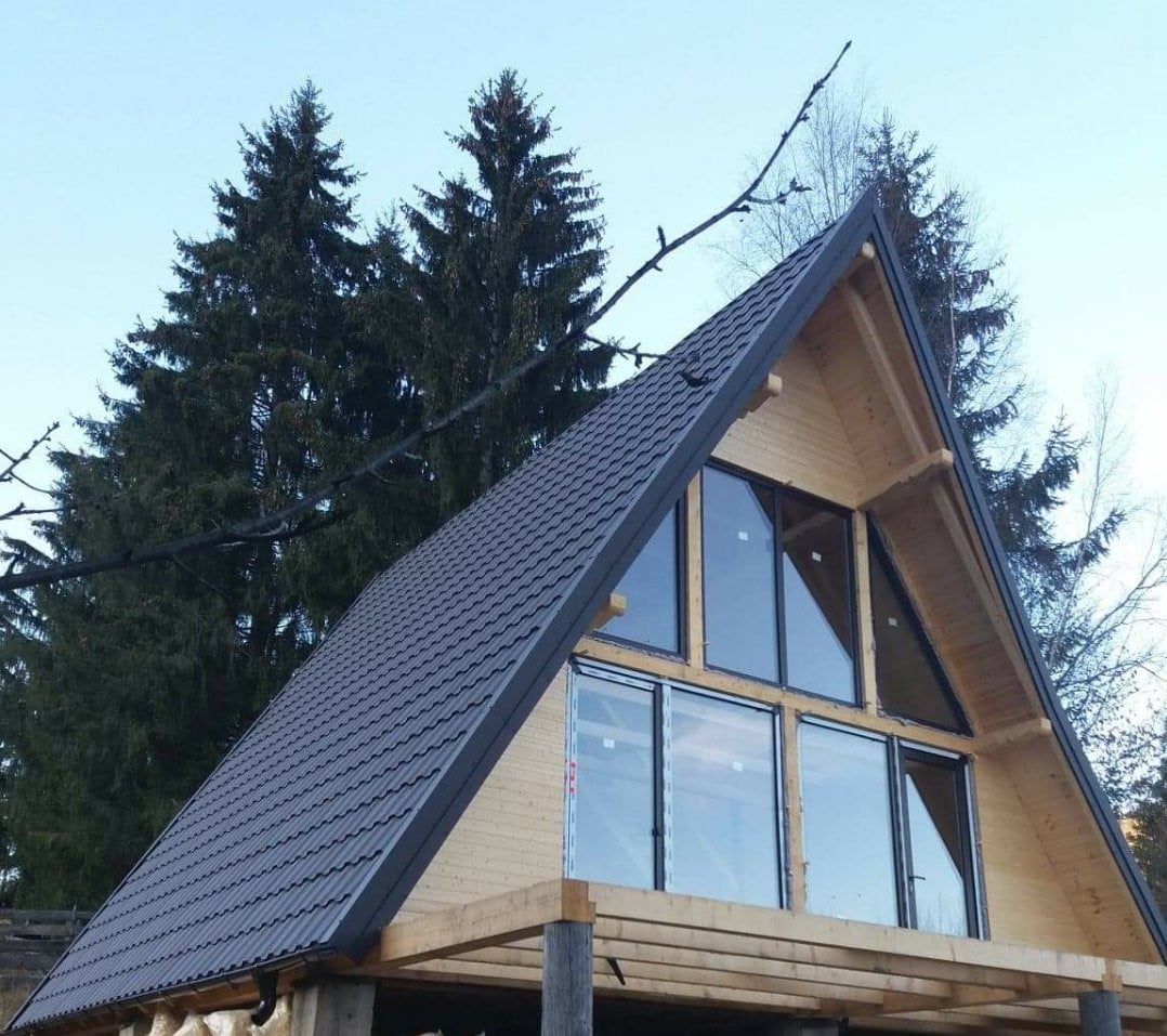 cabana din lemn tip A
